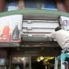 荻窪にある酒屋さんの看板の蛍光灯交換