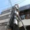 杉並区荻窪のテナント袖看板の蛍光灯交換と面板交換
