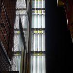 世田谷区南烏山:テナントビルの袖看板の蛍光灯交換・面板交換