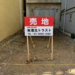 新宿区早稲田鶴巻町:売り地看板の設置