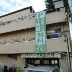 杉並区和田:駐輪場の垂れ幕交換作業