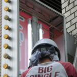 品川区東五反田:雀荘の袖看板のLED化