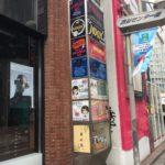 渋谷センター街:テナントビルの3面看板の蛍光灯交換