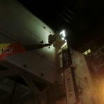 千代田区神田淡路町:英会話スクールの看板の原状復旧(白戻し)