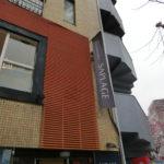 渋谷区東:美容室のフラッグと壁面サインの撤去・原状回復