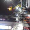 (回想)杉並区荻窪:テナントビルの袖看板の蛍光灯交換