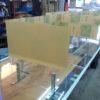 杉並区荻窪:事務所机用にコロナ飛沫防止透明アクリル製パーティションの納品