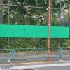 杉並区下井草:区立中学校のフェンスに掲示板設置
