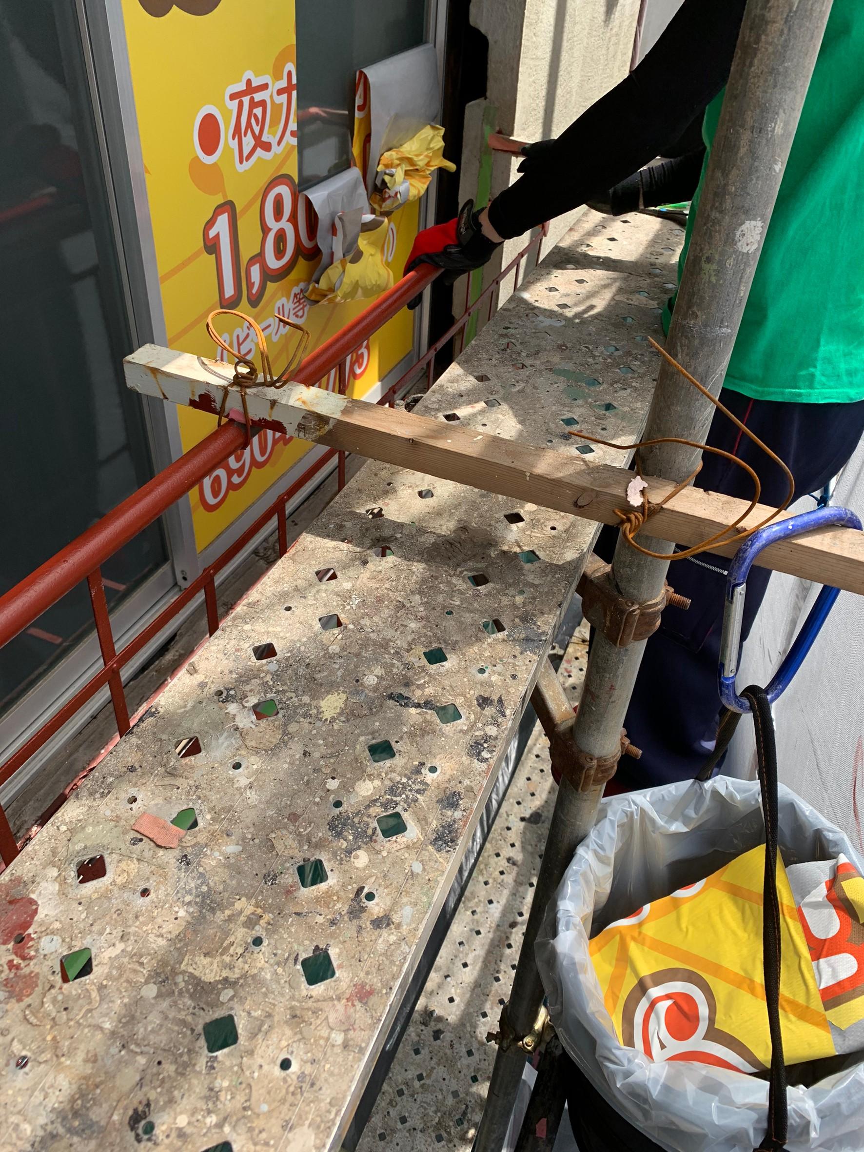 練馬区上石神井:カラオケ店の看板の原状回復
